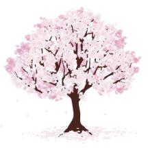桜の木 ベクターイラスト素材