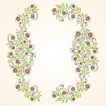 花・植物 飾り罫 ベクターイラスト素材