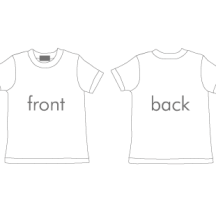 Tシャツ前後 ベクターイラスト素材