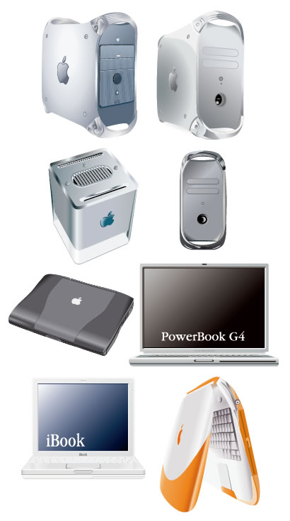 Macパソコン、ノートパソコン ベクターイラスト素材