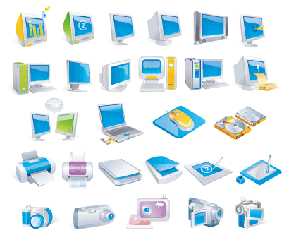 パソコン周辺機器 ベクターイラスト素材