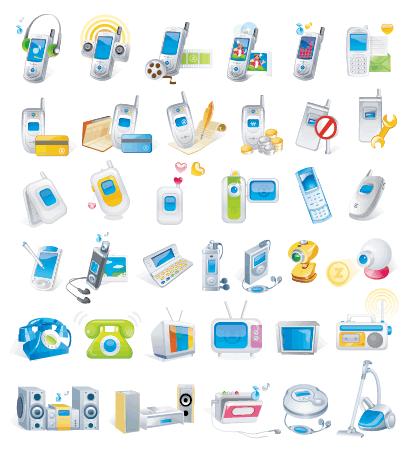 携帯、電化製品 ベクターイラスト素材
