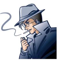 探偵、刑事警察 ベクターイラスト素材