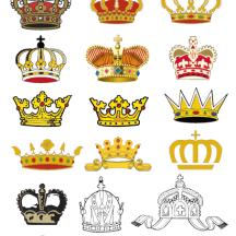 王冠アイコン ベクターイラスト素材