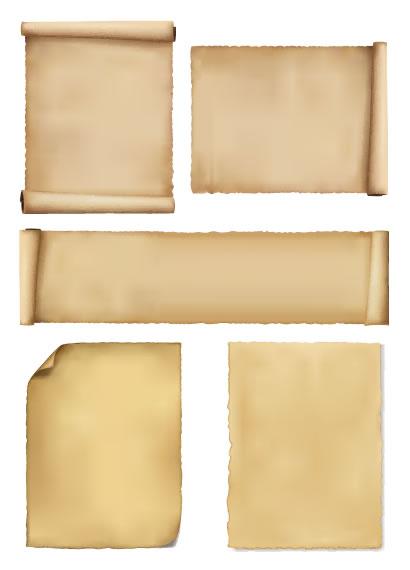 巻き物、古紙 ベクターイラスト素材