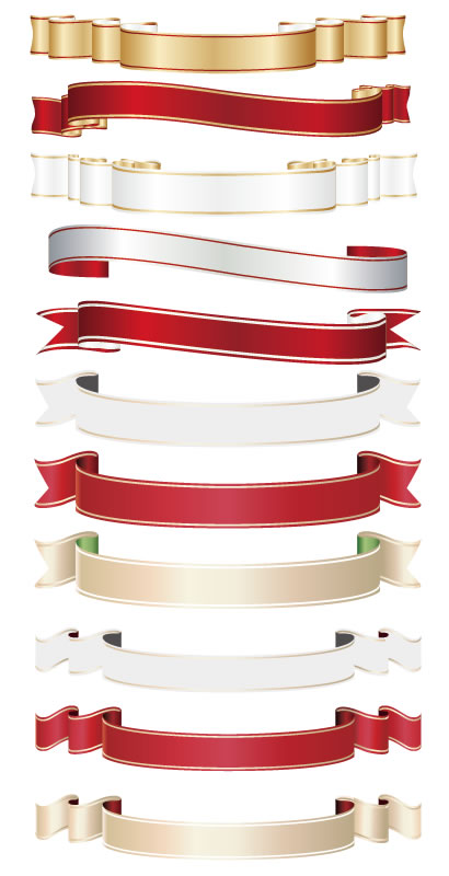 リボン飾り枠フレーム ベクターイラスト素材