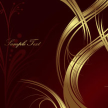 高級感,ゴールド金,曲線 ベクターイラスト素材