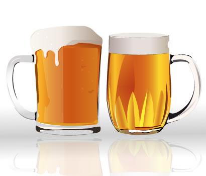 ビール,ビールジョッキ,ビールグラス,泡 ベクターイラスト素材