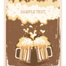 ビール,ビールジョッキ,ビールグラス,泡,背景,フレーム ベクターイラスト素材