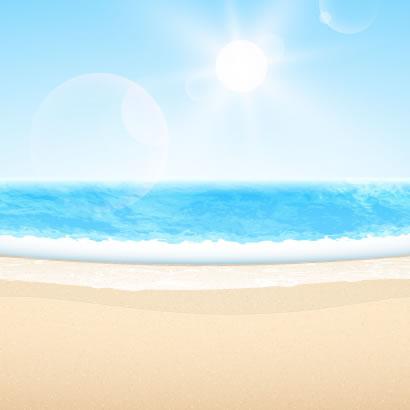 ビーチ,海,青空,太陽 ベクターイラスト素材