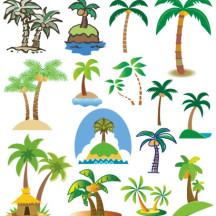 椰子の木,ヤシの木 ベクターイラスト素材