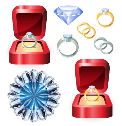 結婚指輪,宝石 ベクターイラスト素材