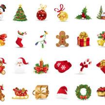 クリスマス関連 ベクターイラスト素材