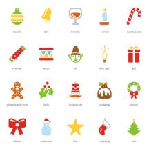 クリスマス,フェスティバル アイコン ベクターイラスト素材