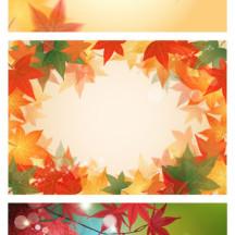 紅葉,もみじ,背景イメージ,絵はがき ベクターイラスト素材