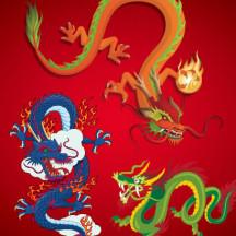 竜,龍,ドラゴン,辰(たつ) ベクターイラスト素材