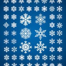 雪の結晶,冬の風物詩,アイコン ベクターイラスト素材
