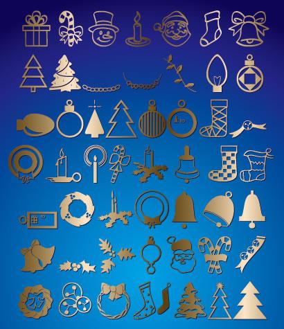 クリスマス関連,冬の風物詩,アイコン ベクターイラスト素材