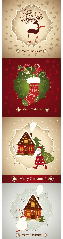 クリスマスカード,グリーティングカード,背景イメージ ベクターイラスト素材
