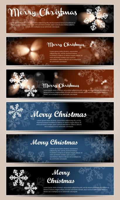 クリスマス,雪の結晶,バナー背景イメージ ベクターイラスト素材