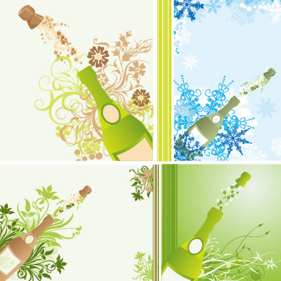 シャンパンシャワー,コルク栓,背景イメージ ベクターイラスト素材
