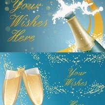 シャンパンシャワー,シャンパングラス乾杯,背景イメージ ベクターイラスト素材