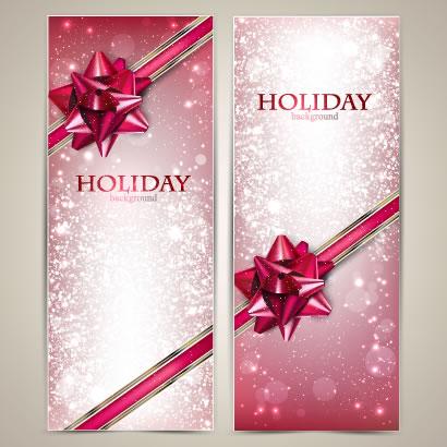 クリスマスカード,リボン ベクターイラスト素材