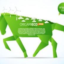 馬,エコ,折り紙,風車 ベクターイラスト素材