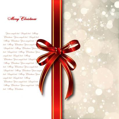 リボン,クリスマス背景 ベクターイラスト素材