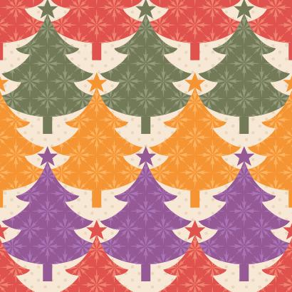 クリスマスツリー,モミの木,クリスマスパターン ベクターイラスト素材