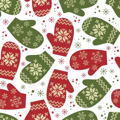 冬の手袋,雪の結晶,クリスマスパターン ベクターイラスト素材