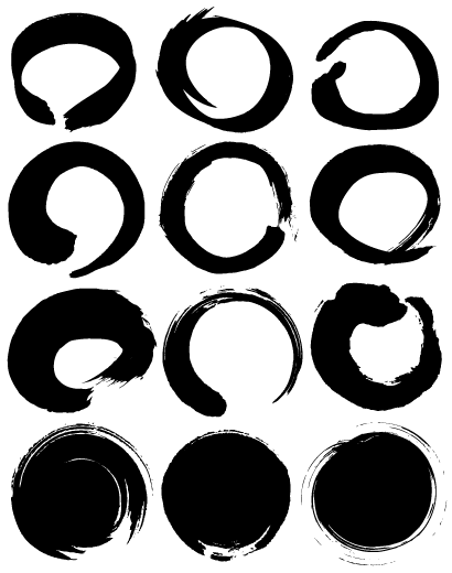 円,サークル,丸,まる,マル,年賀状 ベクター筆文字