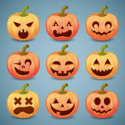 ハロウィン かぼちゃ ランタン ベクターイラスト素材