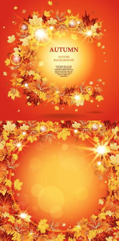 紅葉,もみじ,背景イメージ ベクターイラスト素材