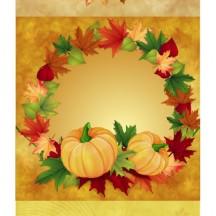 紅葉,もみじ,かぼちゃ,フレーム飾り,背景イメージ ベクターイラスト素材