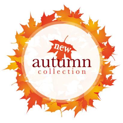 秋の紅葉,葉っぱ,フレーム飾り,円サークル ベクターイラスト素材