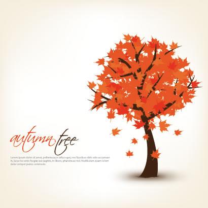 紅葉,もみじ,秋の木 ベクターイラスト素材
