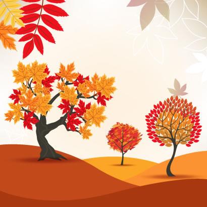 紅葉,もみじ,秋の木,背景イメージ ベクターイラスト素材