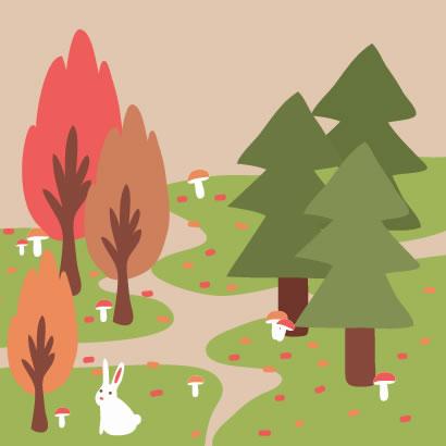 紅葉,秋の森林,背景イメージ ベクターイラスト素材
