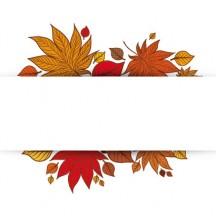 紅葉,もみじ,フレーム飾り ベクターイラスト素材