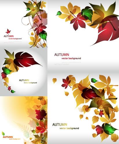 秋の紅葉,葉っぱ,背景イメージ ベクターイラスト素材