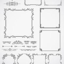 飾り罫線,フレーム枠 ベクターイラスト素材