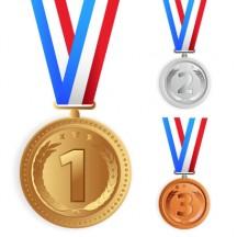 金銀銅メダル ベクターイラスト素材