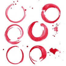 円,サークル,丸,まる,マル,赤ワインの汚れ,年賀状 ベクター筆文字