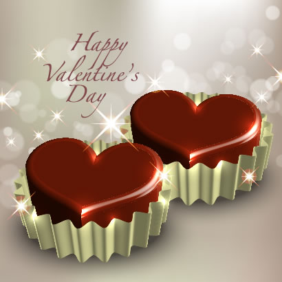 バレンタインデー,バレンタインチョコレート,ハートマーク型,銀紙 ベクターイラスト素材