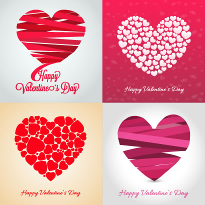 バレンタインデー,ハートマーク型,結婚式,ウエディング,カード ベクターイラスト素材