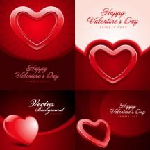 バレンタインデー,ハートマーク型,結婚式,ウエディング,光沢,カード背景イメージ ベクターイラスト素材