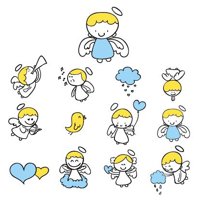 天使 可愛いイラストai Eps ベクタークラブ イラストレーター素材が無料