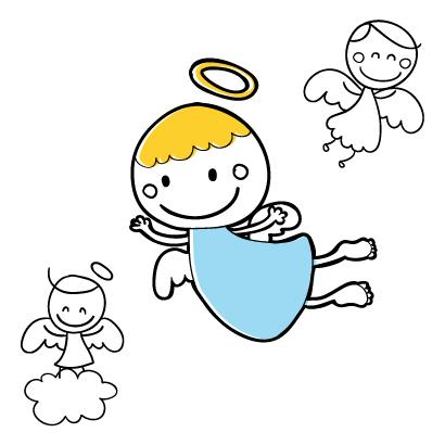 天使,エンジェル ベクターイラスト素材
