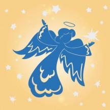 天使,女神,シルエット ベクターイラスト素材